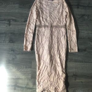 Pretty Little Thing Lace Pale Pink Dress